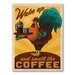 Americanflat Rooster Vintage Advertisement Wrapped on Canvas
