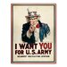 Americanflat Uncle Sam Vintage Advertisement Wrapped on Canvas