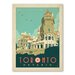 Americanflat WT Toronto Casa Loma Vintage Advertisement Wrapped on Canvas