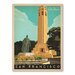 Americanflat San Francisco Coit Tower Vintage Advertisement Wrapped on Canvas