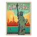 Americanflat Asa New York City Liberty Vintage Advertisement Wrapped on Canvas
