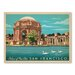 Americanflat Asa Sanfran Palacefineart Vintage Advertisement Wrapped on Canvas