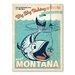 Americanflat Asa Big Sky Fishing Vintage Advertisement