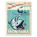 Americanflat Asa Bigsky Fishing Vintage Advertisement Wrapped on Canvas