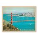 Americanflat Asa Sanfran Goldengate Vintage Advertisement Wrapped on Canvas