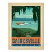 Americanflat Asa Gainesvillefl Vintage Advertisement Wrapped on Canvas