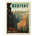 Americanflat Asa Montana 1002 Vintage Advertisement Wrapped on Canvas