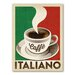 Americanflat Café Italiano Vintage Advertisement Wrapped on Canvas