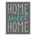 Americanflat Home Sweet Home Typography in Aqua
