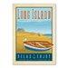 Americanflat Longisland Rowboat Vintage Advertisement Wrapped on Canvas