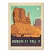 Americanflat Asa Navajo Tribal Park Monumentvalley Vintage Advertisement Wrapped on Canvas