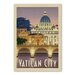 Americanflat Vatican City Vintage Advertisement Wrapped on Canvas