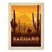 Americanflat Asa National Park Saguaro Vintage Advertisement Wrapped on Canvas