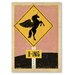 Americanflat Unicorn X-ing Sign Graphic Art Wrapped on Canvas