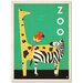 Americanflat Zoo Graphic Art Wrapped on Canvas