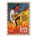 Americanflat 'Red Hot Blues' by Music Festival Vintage Advertisement Wrapped on Canvas