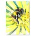 Americanflat 'Flower Bee III' by Suren Nersisyan Painting Print on Wrapped Canvas