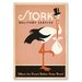 Americanflat Stork Vintage Advertisement on Wrapped Canvas
