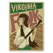 Americanflat 'Virginia Folk' by Music Festival Vintage Advertisement on Wrapped Canvas