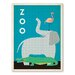 Americanflat Zoo Graphic Art on Wrapped Canvas