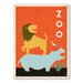 Americanflat Zoo Vintage Advertisement on Wrapped Canvas