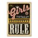 Americanflat Girls Rule Vintage Advertisement Wrapped on Canvas