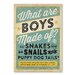 Americanflat Boys Are Made of by Anderson Design Children Vintage Advertisement on Wrapped Canvas