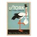 Americanflat Stork by Anderson Design Children Vintage Advertisement on Wrapped Canvas in Blue