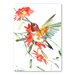 Americanflat 'Hummingbird with Flowers' by Suren Nersisyan Art Print Wrapped on Canvas