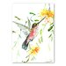Americanflat 'Hummingbird with Flowers' by Suren Nersisyan Painting Print on Wrapped Canvas