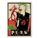 Americanflat 'Punk' by Music Festival Vintage Advertisement Wrapped on Canvas