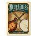 Americanflat 'Blue Grass' by Music Festival Vintage Advertisement on Wrapped Canvas