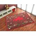 Boeing Carpet GmbH Horse Friends Hand-Woven Brown Area Rug