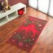 Boeing Carpet GmbH Hand-Woven Brown/Red Area Rug