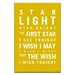Artist Lane Star Light Star Bright by Nursery Canvas Art in Yellow