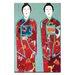Artist Lane Red Geisha by Anna Blatman Art Print Wrapped on Canvas