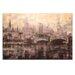 Artist Lane Dusk on the Yarra by Jennifer Webb Art Print Wrapped on Canvas in Brown