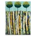 Artist Lane Summer Trees by Anna Blatman Art Print Wrapped on Canvas