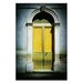 Artist Lane Doors of Italy - Giallo by Joe Vittorio Photographic Print Wrapped on Canvas