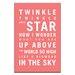 Artist Lane Twinkle, Twinkle Little Star by Nursery Canvas Art in Red