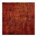 Artist Lane Burnt Orange Grid 1 by Katherine Boland Art Print on Canvas in Orange