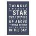 Artist Lane Twinkle, Twinkle Little Star by Nursery Canvas Art in Charcoal