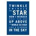 Artist Lane Twinkle, Twinkle Little Star by Nursery Canvas Art in Navy