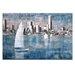 Artist Lane Sailing on Albert Park Lake by Jennifer Webb Art Print Wrapped on Canvas