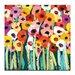 Artist Lane Rainbow Garden by Anna Blatman Art Print on Canvas