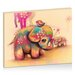 Artist Lane Vintage Tie Dye Elephants by Karin Taylor Art Print Wrapped on Canvas