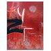Artist Lane Barkly St by Katherine Boland Art Print Wrapped on Canvas in Red