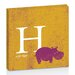 Artist Lane H for Hippo by Toni Prime Graphic Art on Canvas in Yellow