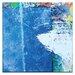 Artist Lane Blue Square 3 by Gill Cohn Art Print on Canvas