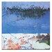 Artist Lane Blue Square 1 by Gill Cohn Art Print on Canvas